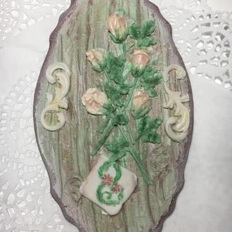 Пряничная открытка Розы
