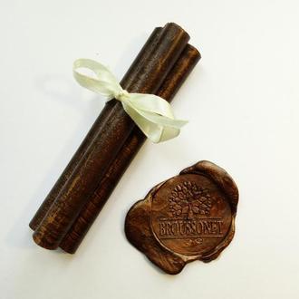 Декоративные сургучные палочки. Цвет - коричневый.