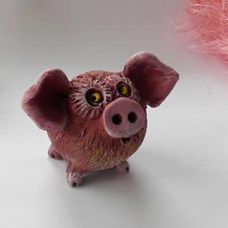 """Фигурка свиньи """"Розовое ушко"""""""