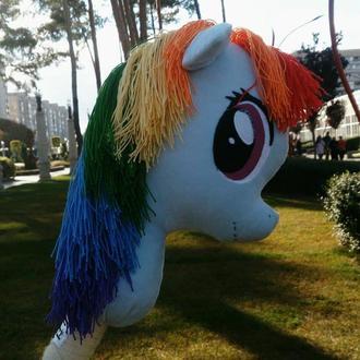 Лошадка на палке Rainbow Dash