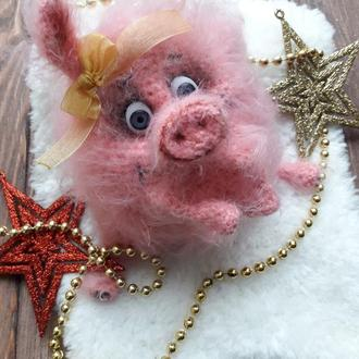Вязанная свинка Фрося