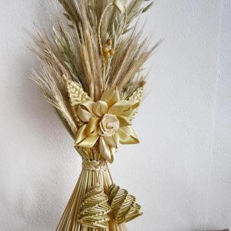 Дидух из соломы (сухоцвета) с лотосом