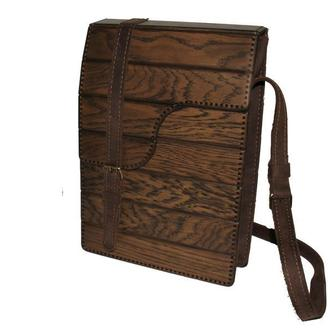 Мужская сумка из кожи и дерева