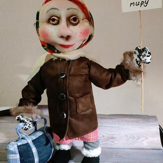 """Кукла из капрона """"Теща голубь мира """" 45 см"""