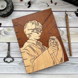 "Деревянный блокнот ""Гарри Поттер"""