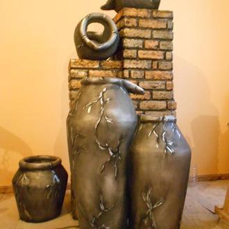 Фонтаны из арт-бетона ручной работы