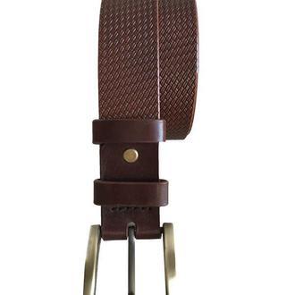 Мужской кожаный ремень, коричневый ремень, кожаный ремень