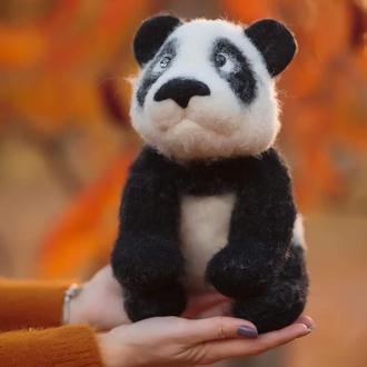 Панда из  шерсти