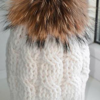 Зимняя шапка Белоснежка
