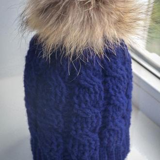 Зимняя шапка Синева