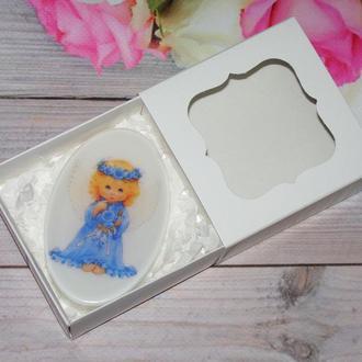 Сувенирное мыло с картинкой в коробочке
