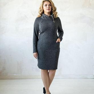 """Строгое и сексуальное платье """"Марго"""" ТОП качества от укр дизайнера. Размеры 46-56"""