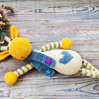 Жираф вязаный, эко игрушка