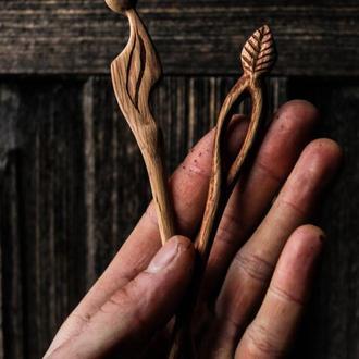 Деревянные шпильки-заколки