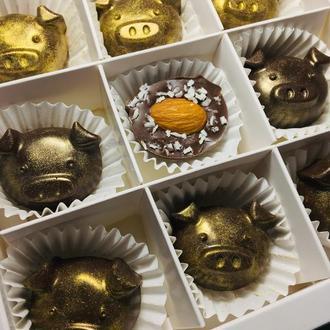 Шоколадные конфеты «золотые свинки»