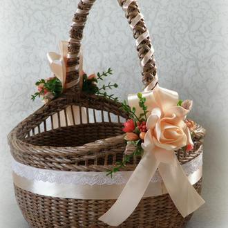 Плетеная пасхальная корзина