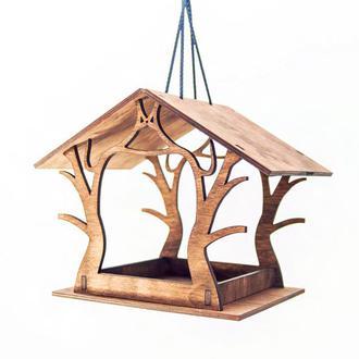 Кормушка для птиц из фанеры