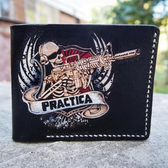 Кожаный кошелек Practica