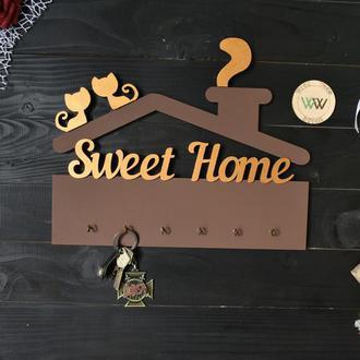"""Ключниця з котиками """"Sweet home"""""""