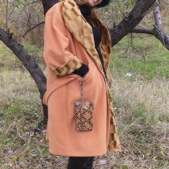 Пальто демисезонное, утепленное, женское