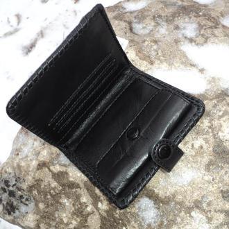 Кожаный мужской кошелек. Мужской кошелек из натуральной кожи ручной работы. Чоловічий гаманець