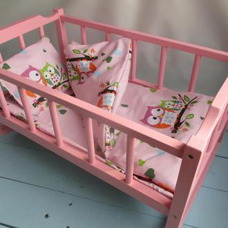 Кроватка-люлька для кукол.Baby born Дерево.