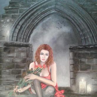 """Картина """"Красное и чёрное"""", 40х50, х., м."""