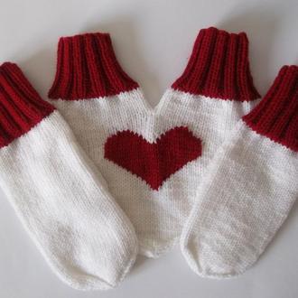 Варежки для влюбленных Сердце