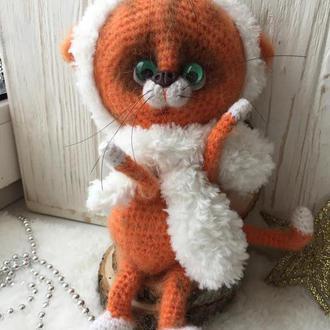 Вязанная игрушка Кот Василий