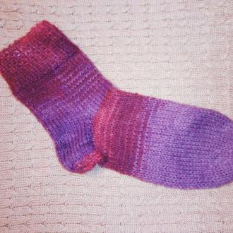 Вязаные носки,тёплые и тонкие