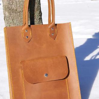 сумка из винтажной кожи