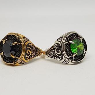 Кольцо перстень печатка мужская