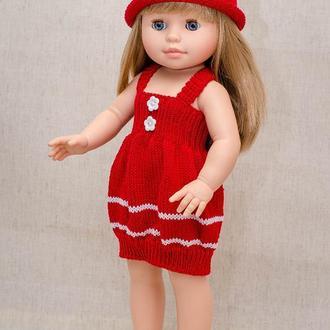 Одежда на куклу Паола Рейна 40 см, сарафан для куклы красный