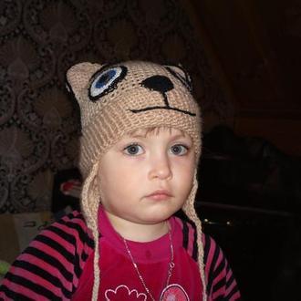детская шапочка Мишка (ручная работа)