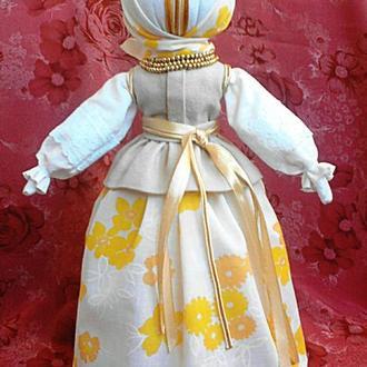 Интерьерная авторская кукла мотанка Ярина. Оберег.