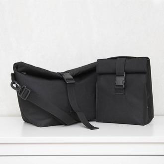 Набір термо сумок  lunch bag чорний L та чорний S