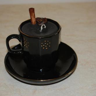 Декоративная свеча в чашке