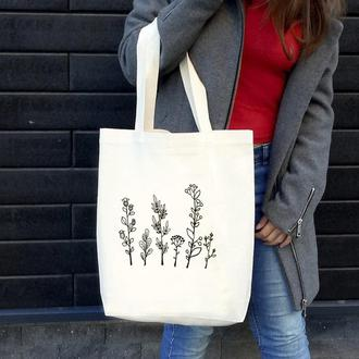 Экосумка Wildflower / Эко сумка / Сумка женская /  Торба / сумка-шоппер