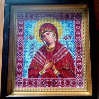 Картина Вышита бисером Икона Божья Мать