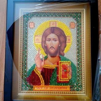 Картина Вышита бисером Икона Господь Вседержитель
