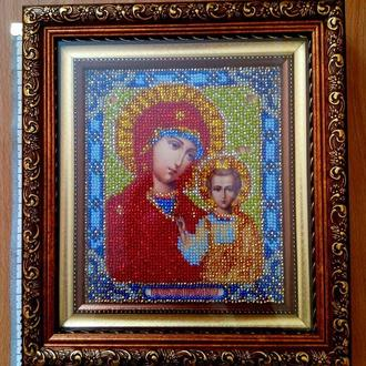 Картина Вышита бисером Казанская Божья Мать
