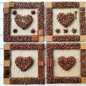 Кофейное панно-валентинка «Для любимых»