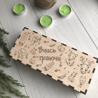 Набор трафаретов из дерева для творчества и раннего развития