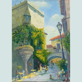 Картина маслом испанский дворик