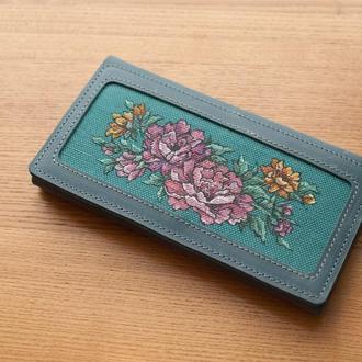 Кожаный кошелек женский клатч