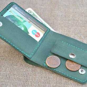 Зеленый кожаный кошелек K36-350