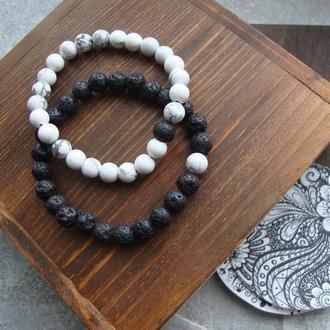 Браслеты для влюбленных из натуральных камней