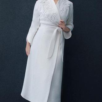 """Вышитое платье """"Моя зимняя сказка"""" теплое платье с ручной вышивкой"""