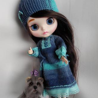 Платье с шапкой для куклы Блайз, Айси