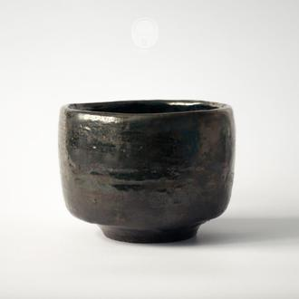 "Work no. 215W — chawan ""Black Copper"", tea bowl in japanese style"